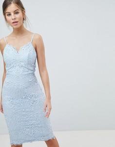 Платье-футляр на бретелях Chi Chi London - Синий
