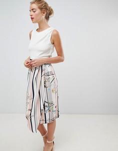 Платье-футляр 2 в 1 с цветочным принтом Closet London - Мульти