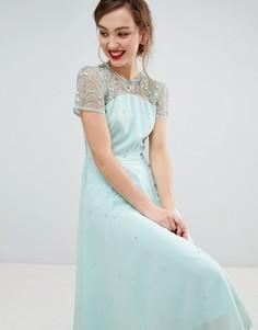 Приталенное платье с короткими рукавами Frock & Frill - Зеленый