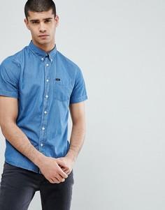 Рубашка в полоску на пуговицах с короткими рукавами Lee - Синий