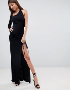 Платье макси на одно плечо City Goddess - Черный