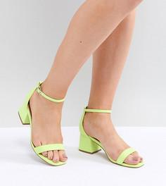Босоножки на каблуке для широкой стопы ASOS DESIGN Honeydew - Зеленый