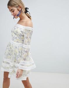 Приталенное платье с цветочным принтом Dolly & Delicious - Мульти
