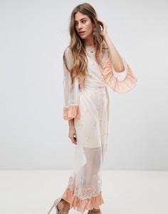 Платье миди Stevie May Delilah - Кремовый