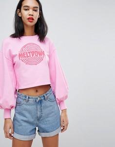 Свитшот с объемными рукавами Uncivilised Meltdown - Розовый