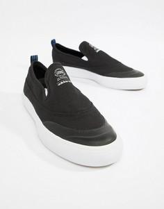 Черные кроссовки-слипоны adidas Skateboarding Matchcourt CQ1132 - Черный