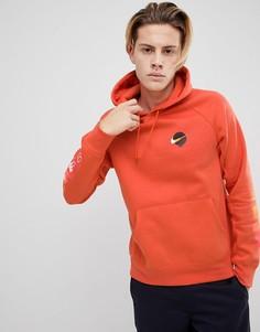 Оранжевый худи с принтом на рукавах Nike SB 886088-879 - Оранжевый