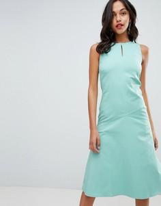 Платье миди А-силуэта Closet London - Зеленый