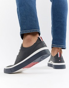 Темно-синие легкие кожаные кроссовки Tommy Hilfiger - Темно-синий