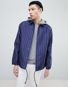 Темно-синяя спортивная куртка в полоску Mennace - Темно-синий