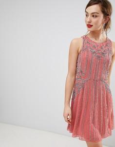 Свободное платье Frock & Frill - Розовый