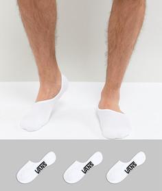 3 пары белых невидимых носков Vans Classic VXTTWHT - Белый