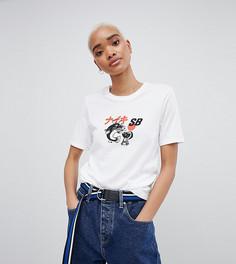 Белая футболка с логотипом Nike Sb - Белый