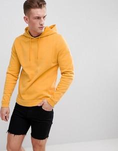 Худи из пике желтого цвета ASOS DESIGN - Желтый