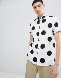 Рубашка в горошек с короткими рукавами Dr Denim Zeke - Белый