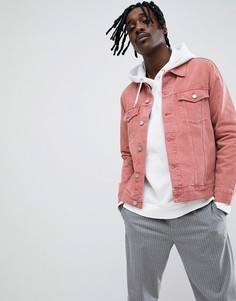 Розовая джинсовая куртка Weekday - Розовый
