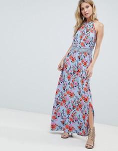 Платье макси с кружевом и цветочным принтом Boohoo - Мульти