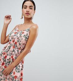Платье мини на бретельках с цветочным принтом Boohoo - Мульти