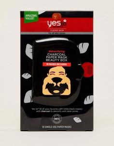 Набор бумажных масок Yes to Tomatoes - Бесцветный