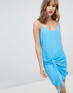 Платье на бретельках с узлом River Island - Синий