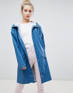 Длинная куртка Rains - Синий