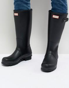 d8510ec8603b Высокие резиновые сапоги черного цвета Hunter - Черный