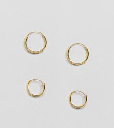 Набор позолоченных серег-колец Kingsley Ryan - Золотой