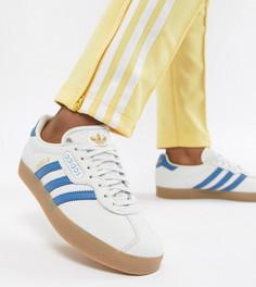 Бело-синие кроссовки adidas Originals Gazelle Super - Черный