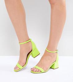 Босоножки на каблуке ASOS DESIGN Honeydew - Зеленый