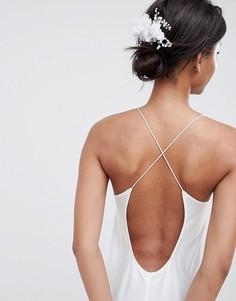 Гребень с цветами ASOS DESIGN Bridal - Серебряный