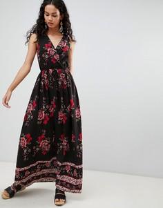 Платье макси с цветочным принтом Parisian - Черный
