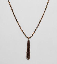 Ожерелье с тигровыми бусинами Reclaimed Vintage Inspired эксклюзивно для ASOS - Мульти