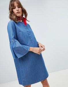 Джинсовое платье с рукавами клеш M.i.h Jeans Beck - Синий