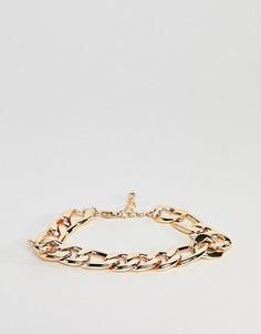 Золотистый массивный браслет-цепочка ASOS DESIGN - Золотой