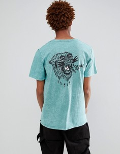 Синяя футболка с принтом на спине Globe Howler - Синий