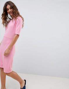 Трикотажное платье с рукавами 3/4 b.Young - Розовый
