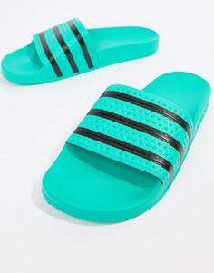 Зеленые шлепанцы adidas Originals Adilette CQ3100 - Зеленый