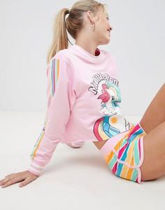 Комплект для дома из укороченного свитшота и шортов с принтом My Little Pony ASOS DESIGN - Мульти