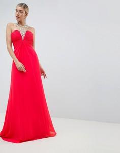 Платье с отделкой Jovani - Красный