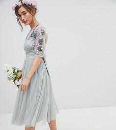Платье миди из тюля Maya Petite - Зеленый