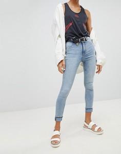 Супероблегающие джинсы с завышенной талией Cheap Monday - Синий