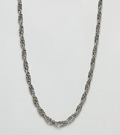 Ожерелье из витой цепочки Sacred Hawk - Серебряный