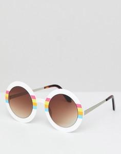 Круглые белые солнцезащитные очки Spitfire - Белый