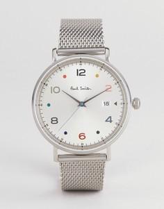 Серебристые часы Paul Smith PS0060001 Gauge 41 мм - Серебряный