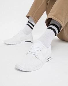 Белые кроссовки Nike SB Stefan Janoski Max Skateboarding 631303-114 - Белый