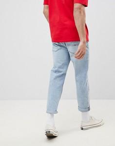 Светлые укороченные джинсы в стиле 90-х Tommy Jeans Sailing Capsule - Синий