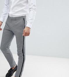 Укороченные брюки скинни с полосой Heart & Dagger - Синий