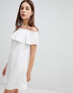 Платье мини с широким вырезом Pimkie - Белый