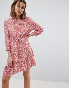 Платье-рубашка с принтом AllSaints - Красный