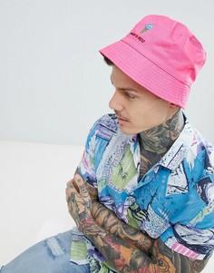 Розовая панама с вышивкой What A Melt ASOS DESIGN - Розовый